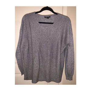 gray long sleeve knit sweater✨